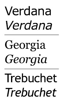 Web-enabled fonts