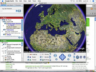 Google Earth on Mac OS X